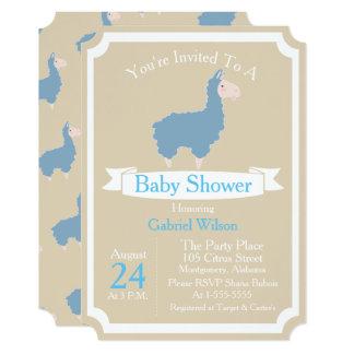 Cartão Chá de fraldas azul engraçado bonito do bebé do