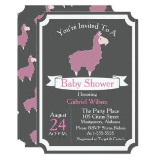 Cartão Chá de fraldas cor-de-rosa engraçado bonito do