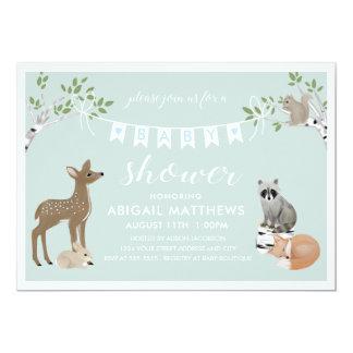 Cartão Chá de fraldas da floresta