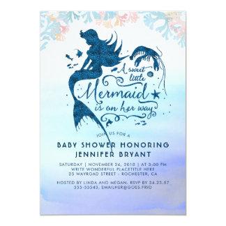 Cartão Chá de fraldas da sereia sob o oceano do mar