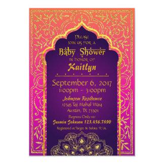 Cartão Chá de fraldas das noites árabes de Bollywood