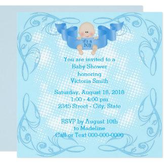 Cartão Chá de fraldas é um bebé do menino