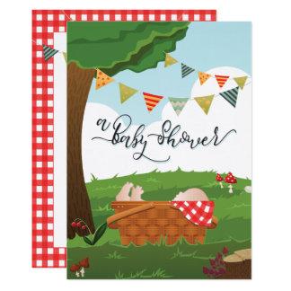 Cartão Chá de fraldas Picnic/BBQ/Woodland