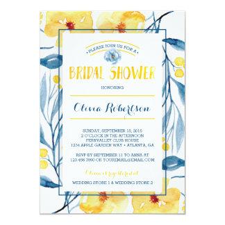 Cartão Chá de panela, aguarela floral