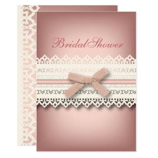 Cartão Chá de panela bonito do kawaii do rosa do arco do