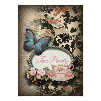 Cartão Chá de panela botânico boémio de Paris da