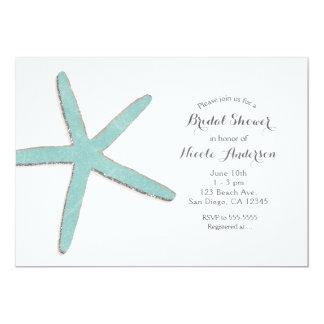 Cartão Chá de panela branco da praia da estrela do mar