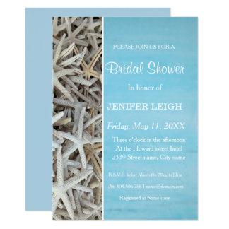 Cartão Chá de panela branco do casamento de praia do