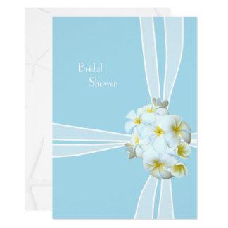 Cartão Chá de panela branco do Hawaiian do Plumeria