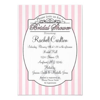 Cartão Chá de panela cor-de-rosa de Paris