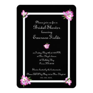 Cartão Chá de panela cor-de-rosa do Dogwood