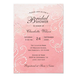Cartão Chá de panela cor-de-rosa original da pérola do
