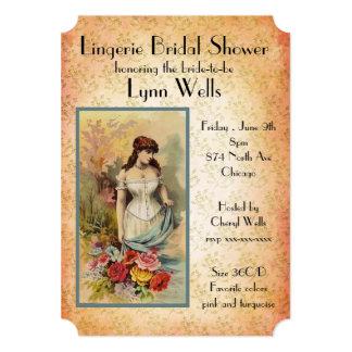Cartão Chá de panela da lingerie do estilo do vintage
