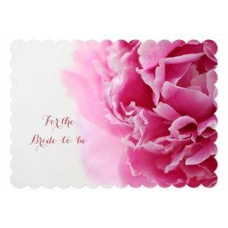 Cartão Chá de panela da peônia do close up