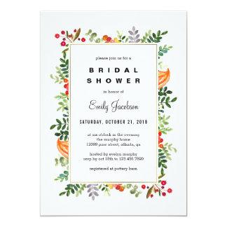 Cartão Chá de panela da queda das flores do outono