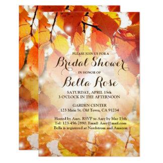 Cartão Chá de panela da queda das folhas de outono