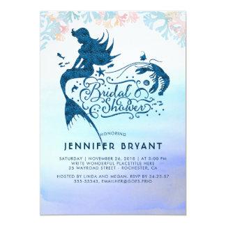 Cartão Chá de panela da sereia sob o mar do amor