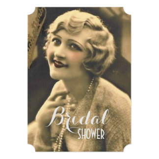 Cartão chá de panela de Gatsby da festa de solteira do