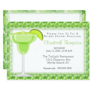 Cartão Chá de panela de Margarita do limão