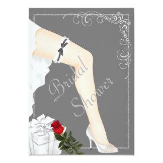 Cartão Chá de panela de prata elegante