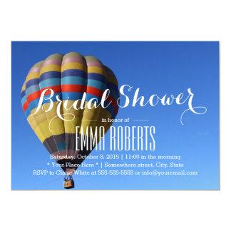 Cartão Chá de panela do balão de ar quente da aventura do