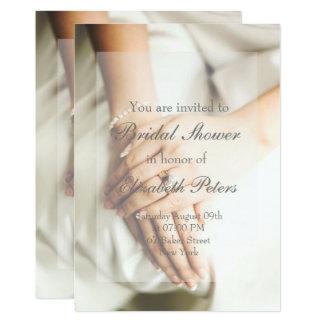 Cartão Chá de panela do casamento de diamante da noiva