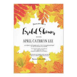 Cartão Chá de panela do casamento outono das folhas de