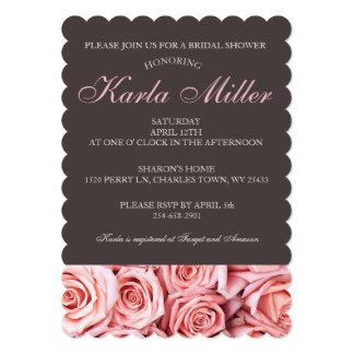 Cartão Chá de panela do fundo brandamente do rosa do rosa
