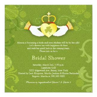 Cartão Chá de panela do irlandês do coração de Claddagh