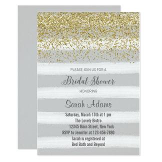 Cartão Chá de panela do ouro e das cinzas