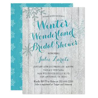 Cartão Chá de panela do país das maravilhas do inverno