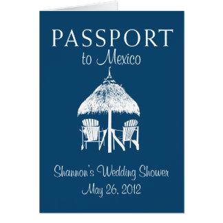 Cartão Chá de panela do passaporte de Puerto Vallarta