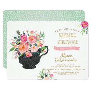Cartão Chá de panela do tea party