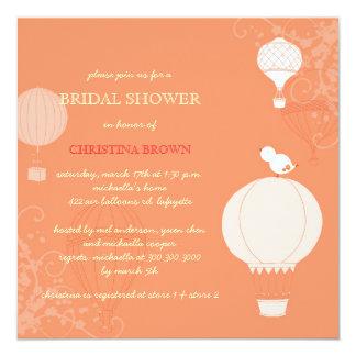 Cartão Chá de panela dos balões de ar quente do primavera
