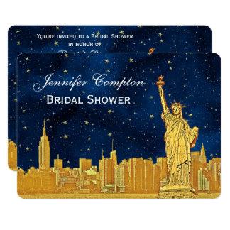 Cartão Chá de panela estrelado azul da skyline #2 BG H do