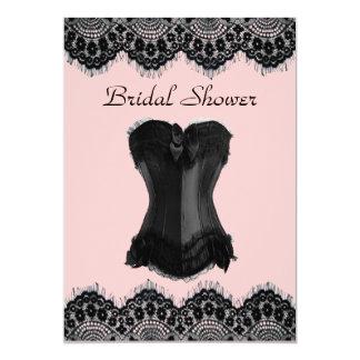 Cartão Chá de panela feminino do espartilho do vintage do