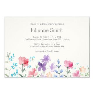 Cartão Chá de panela floral bonito dos Wildflowers bonito