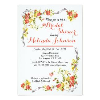 Cartão Chá de panela floral brilhante