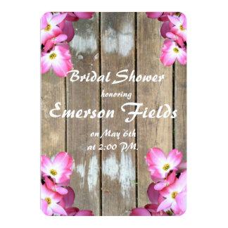 Cartão Chá de panela floral cor-de-rosa