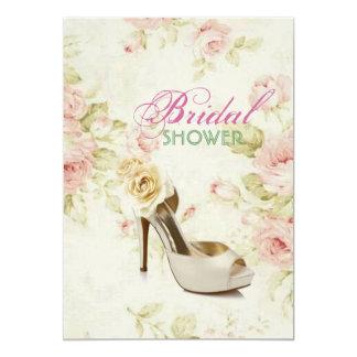 Cartão chá de panela floral cor-de-rosa elegante dos
