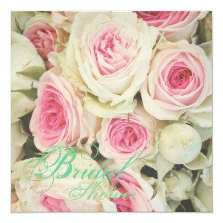 Cartão chá de panela floral do rosa do rosa do chique