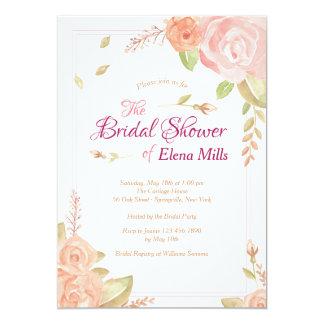 Cartão Chá de panela floral dos acentos