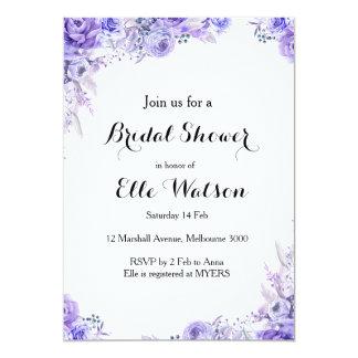 Cartão Chá de panela floral elegante