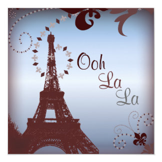 Cartão Chá de panela francês de Paris do vintage da torre
