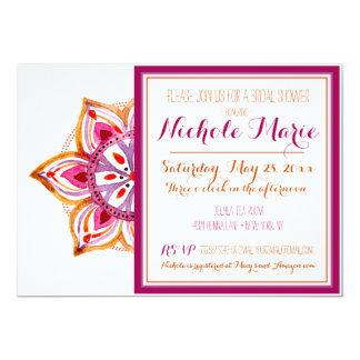 Cartão Chá de panela Fuschia da flor do Henna