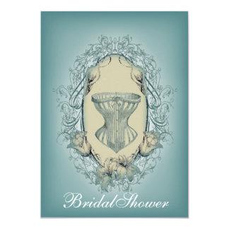 Cartão Chá de panela gótico do espartilho do vintage do