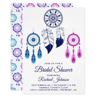 Cartão Chá de panela ideal azul cor-de-rosa do coletor