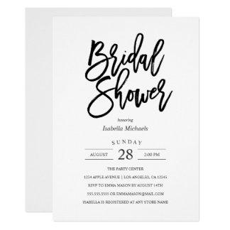 Cartão Chá de panela moderno da noiva