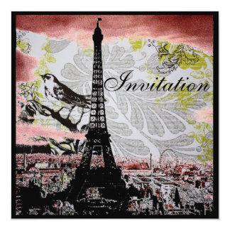 Cartão chá de panela moderno de Paris da torre Eiffel do
