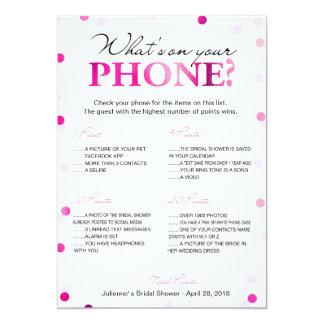 Cartão Chá de panela o que está em seu jogo do telefone